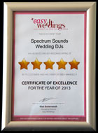 Easy Weddings Award 2013